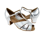C6006 Silver Leather & Silver Scale & Cuban Heel
