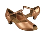 S2802 Copper Nude Leather & Cuban Heel