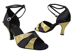 6016 113 Gold Scale_S_H_38 Black Satin_2701 BackStrap Without T Strap