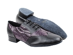 M100101 Black Leather_F_B_252 Purple Snake_M