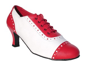 "2007 Red Leather & White Leather with 2.5"" Heel in the photo"