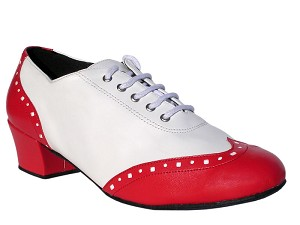 "2008 Red Leather & White Leather with 1.5"" Medium Heel in the photo"