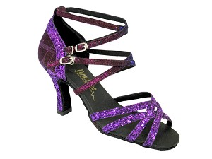 "5008Mirage Purple Sparkle & Purple Illusion with 3"" Heel in the photo"