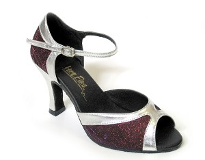 "6024 Purple Illusion & Silver Trim with 3"" Heel in the photo"