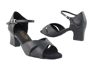 "6029 Black Leather with 2"" Thick Cuban Heel in the photo"