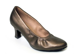 "9624 Copper Leather with 2.5"" low heel in the photo"