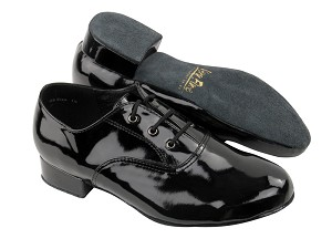 "919101B Black Patent with 1"" Standard heel in the photo"