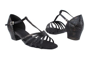 "1612 85 Black Snake_Same as 16612 without Mesh with 1.5"" Medium Heel in the photo"