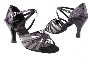 "1613_1710 _1670C_252 Purple Snake_Flesh Mesh with 2.75"" Heel in the photo"