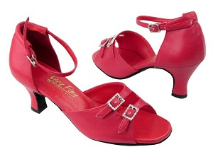 "1620 211 Red Leather with 2.5"" Low heel in the photo"