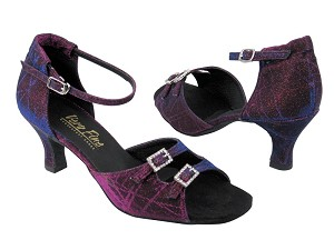 "1620 Purple Illusion with 2.5"" Low heel in the photo"