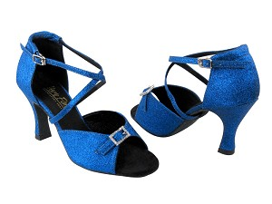 "1636 234 Blue Stardust & Stone with 3"" Heel in the photo"