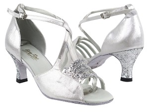 "1651 7 Silver Sparkle_H_259 Silver Satin with 2.5"" Heel in the photo"