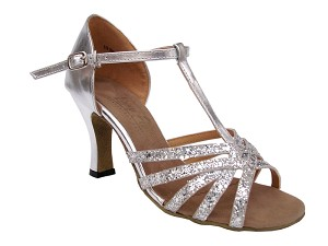 "16612 Silver Sparkle with 3"" heel in the photo"