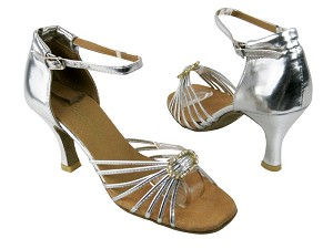 "1671B Silver leather_Stone with 2.75"" heel in the photo"