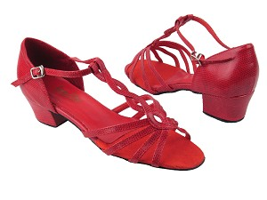"1692 175 Red Snake without Mesh with 1.5"" heel in the photo"