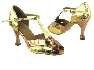 "2703 226 Gold Snake_B_S_116 Gold Patent_T_H with 3.5"" Heel in the photo"