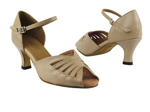 "2709 60 Tan Leather with 2.5"" Heel in the photo"