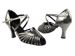 "2717 224 Snake Grey with 3"" Heel in the photo"
