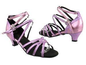 "5008Mirage 190 Purple Scale_161 Soft Purple PU_TS with 1.3"" Heel in the photo"