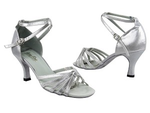 "6005 259 Silver Satin with 2.75"" Heel in the photo"
