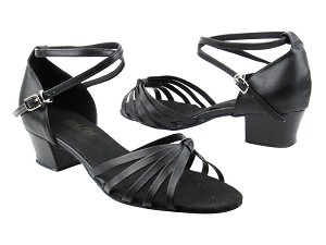 "6005 Black Leather with 1.5"" medium heel in the photo"