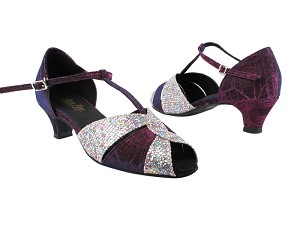 "6006 155 Purple Illusion_73 Purple Sparklenet_X with 1.3"" Heel in the photo"