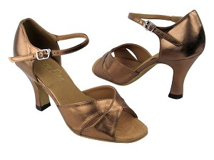 "6029 171 Dark Tan Gold Leather with 3"" heel in the photo"