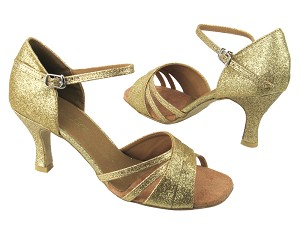 "6030 174 Light Gold Stardust with 3"" heel in the photo"