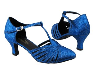 "6829 234 Blue Stardust with 2.5"" low heel in the photo"