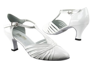 "6829 White Patent with 2.5"" low heel in the photo"