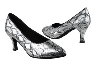 "6901 250 Silver Snake with 2.75"" Heel in the photo"