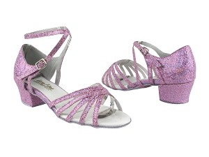 "802 190 Purple Scale_1657 BackStrap with 1.5"" Medium Heel in the photo"