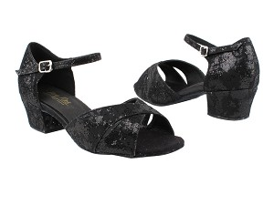 "803_6029 165 Lace Black Scale with 1.5"" Medium Heel in the photo"