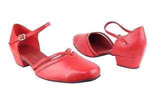 "8881 211 Red PU with 1"" Women Heel in the photo"