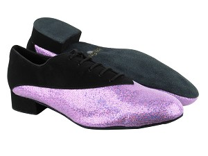 "2504 Black Nubuck_190 Purple Scale with 1"" Standard heel in the photo"