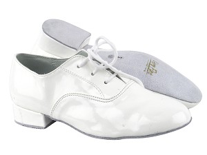 "919101 White Patent with 1"" Standard heel in the photo"