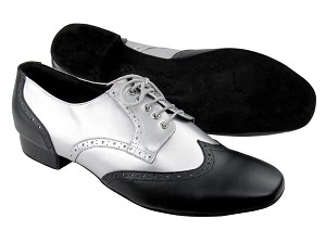 "PP301 Black Leather_BB3 Silver Leather with 1"" Standard heel in the photo"
