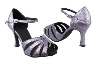 "SERA3850 Grey Stardust & Black Mesh with 3"" heel in the photo"
